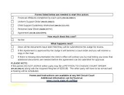 Voluntary Child Support Agreement Form Beautiful Letter