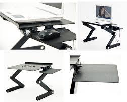 Ergonomic Computer Desk Amazoncom Icraze Adjustable Vented Laptop Table Laptop Computer