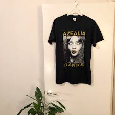 Azealia Banks Black Tour T-Shirt - Size Medium - Depop