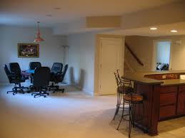 ... Charming Basement Interior With Various Basement Wall Color : Cute  Picture Of Basement Interior Decoration Using ...