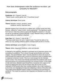 macbeth battle speech year qce english thinkswap macbeth essay example
