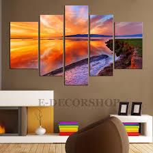 large canvas wall art sunset 5 piece canvas art print for home inside most recent on canvas wall art big w with photos of big w canvas wall art showing 7 of 15 photos