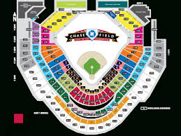 popular  list chase field seating map with regard to dbacks