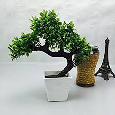 office bonsai tree. Artificial Japanese Zen Bonsai Tree Home Planet With Pot. Perfect For A Desk, Table Office B