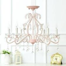 modern kid chandelier 6 light candle style flush mount crystal with jolie chrome drum shade