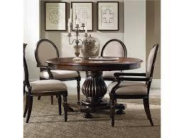 Fetching Dark Brown Wooden Polished Round Pedestal Standing Dining