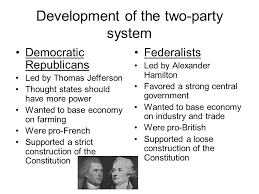 hamilton vs jefferson essay federalists vs republicans mr mullady s class blogger