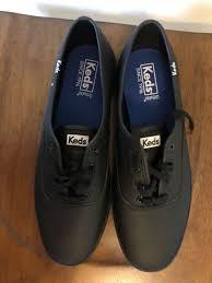keds women s 9 5 champion originals leather black wh45780 l4 ch59 sneakers