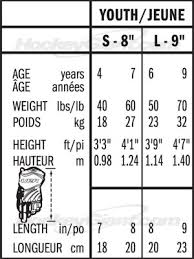 Bauer Glove Size Chart 66 Perspicuous Ccm Glove Size Chart
