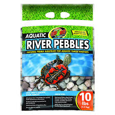 zoo med aquatic river pebbles 9kg bag