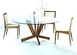 retro glass top dining table set with 6 pu leather chairs sets for round furniture