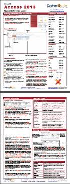 access cheat sheet free excel 2013 quick reference card http www customguide com