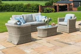 maze rattan oxford 3 seater sofa set in traditional round weave colour image 6