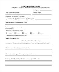 Sample Incident Report Form For Restaurant Sample Incident