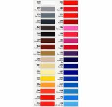 Fdc Color Chart Sign Shop Screen Print Supplies