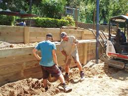 Small Picture Retaining Walls in Brisbane Sleeper Retaining Walls Landscape