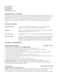 Opera Resume Template Opera Resume Template Skills Summary Resume Extraordinary Qualification Summary Resume