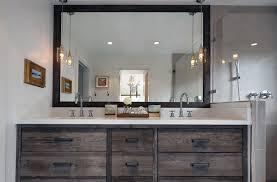 large mirror on bathroom vanity