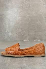 sbicca jared flats tan huarache flats leather sandals leather flats 69 00