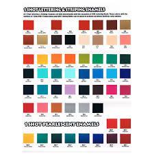 One Shot Color Chart Jacksons Art Supplies