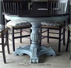 Diy Painting Dining Table Refurbished Craisglist Kitchen Table With