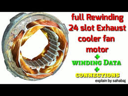 full rewinding 24 slot exhaust cooler fan