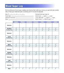 Blood Pressure Log Template Chart Sample Tracker Excel
