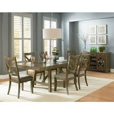 omaha grey trestle dining room table with two leaves by standard dinnette tables