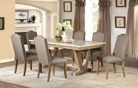 marble and wood dining table casual weathered wood dining table set faux marble top chairs round