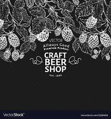 Hop Design Shop Beer Hop Design Template Retro Beer Background