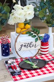 red and white table decorations. Red, White, And Blue Table Decorations Red White