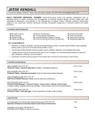 personal training resume samples personal trainer resume samples throughout impression screnshoots