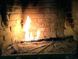gas starter fireplace awesome fire wood