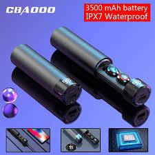 <b>CBAOOO</b> F7 <b>TWS</b> 5.0 Bluetooth Earphone 6D Stereo Wireless ...