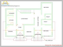 single floor house plan and elevation 1400 sq ft kerala home also plans