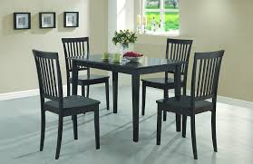 Amazoncom Coaster Piece Dining Set Table Top With  Chairs - Leaky faucet bathroolearn leather dining room chairs on sale