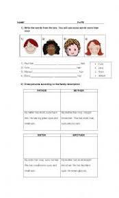 Personal Description Personal Description Esl Worksheet By Edil