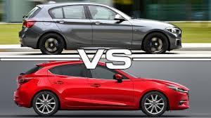 2018 bmw hatchback. beautiful bmw 2018 bmw 1 series vs 2017 mazda 3 hatchback in bmw hatchback a