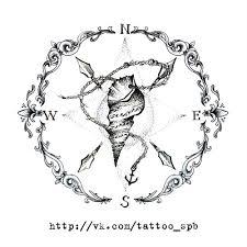 эскизы тату компас