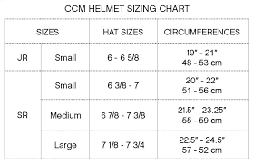 Ccm Hockey Equipment Sizing Chart Ccm Resistance Hockey Helmet