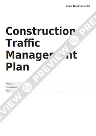 Site Plan Template Construction Traffic Management Plan Form Template