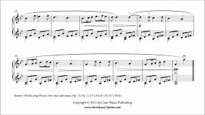 chopin spring waltz sheet music chopin wiosna spring op 74 no 2 abrsm 2013 2014 piano