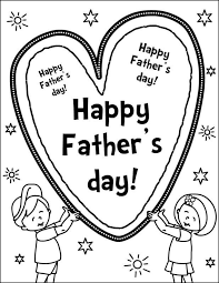 father s day card coloring page