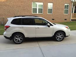 subaru forester 2015 white. 2015 subaru forester 25i touring wagon 4door 25l satin pearl white navigation white
