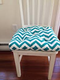 Tufted chair pad seat cushion bar stool cushion Turquoise