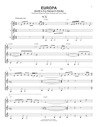 Santana Europa Chord Chart Europa By Santana Guitar Ensemble Guitar Instructor
