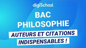 Bac De Philo Auteurs Et Citations à Connaître En Philosophie