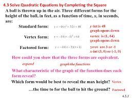 4 3 solving quadratic equations by factoring answer key tessshlo