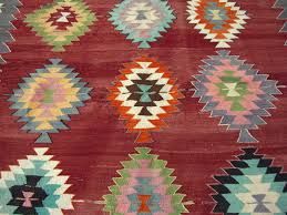 oushak rug turkish kilim rug carpet rug colorful tapis kelim kilim