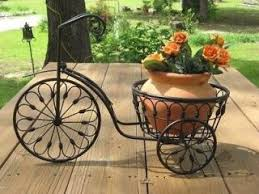 Bicycle Plant Stand Flower Pot Holder Iron Bike Indoor Outdoor Offered by  on Bonanza